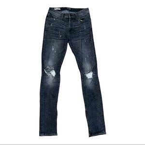 "Jack & Jones Jeans Intelligence ""Liam"" Black Distressed Jeans Size 29/32"